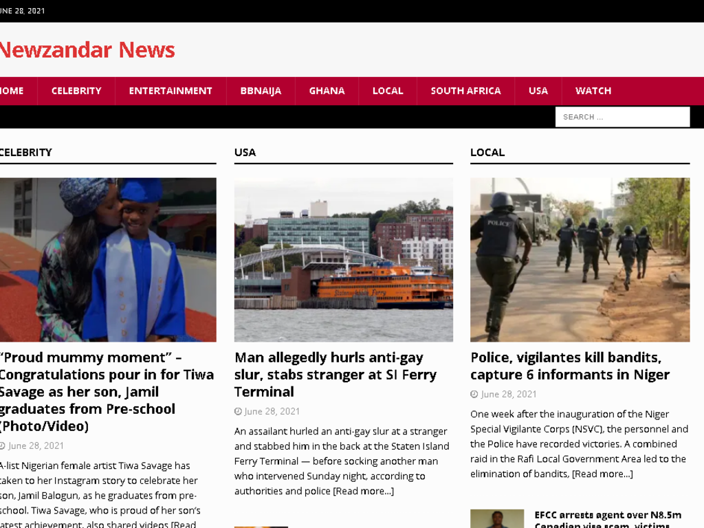 African Entertainment Website