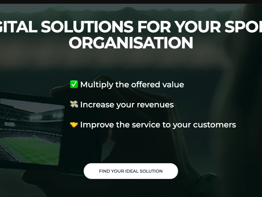 Marketplace for Sports Organizations