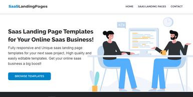 SaaS Landing Page Website