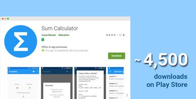 Android App Sum Calculator for Brazilian Entrance Exams