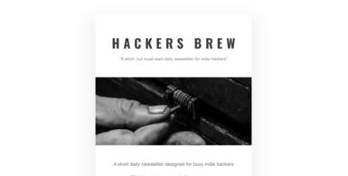 Indie-hackers Newsletter