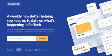 FinTech Executive Weekly Newsletter