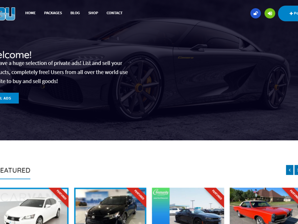 ADS Marketplace With Ad Autopost System