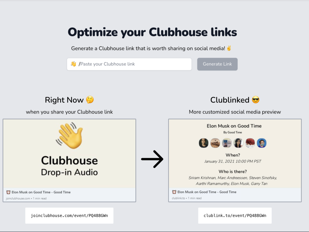 Social Media Promotion Tool for Clubhouse Events