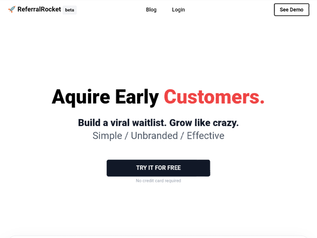 Prelaunch Campaigns & Referral Tool