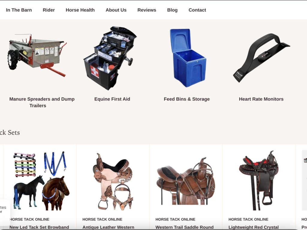 Equine Dropshipping Store