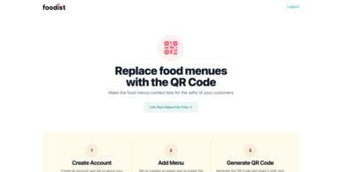 QR Code for Food Menus