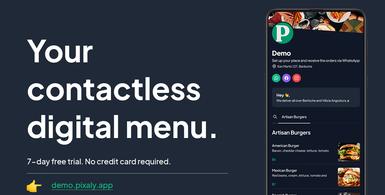 Contactless Digital Menu with QR Code