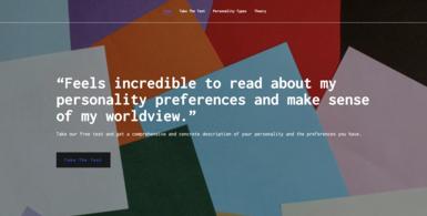 Personalities Test Website